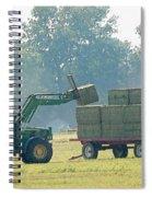 Loading Hay At Dusk Spiral Notebook