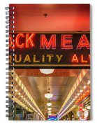 Loback Meat Co Neon Spiral Notebook