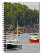 Lobster Boats In Bar Harbor Spiral Notebook