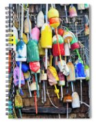 Lobster Buoys And Nets - Maine Spiral Notebook