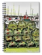 Lobster Pots Kilmore Quay, Wexford, Ireland Poster Effect 1b Spiral Notebook