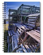 Lobster Traps In The Sun Spiral Notebook