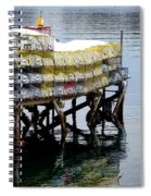 Lobster Traps In Winter Spiral Notebook