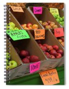 Local Apples For Sale Spiral Notebook