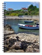 Local Boats In Harbour Spiral Notebook