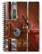 Locked Gate Spiral Notebook