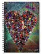 Locket Heart-4 Spiral Notebook