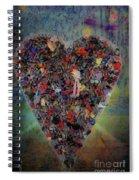Locket Heart-6 Spiral Notebook