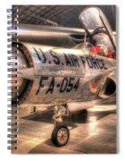 Lockheed F-94 Model C Starfire Spiral Notebook
