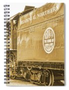 Locomotive And Coal Car Of Yesteryear Spiral Notebook