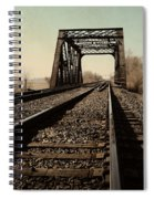Locomotive Truss Bridge Spiral Notebook
