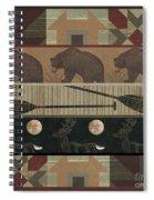 Lodge Cabin Quilt Spiral Notebook