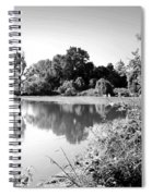 Lodi Pig Lake Reflections B And W Spiral Notebook