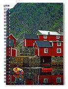 Lofoten Fishing Huts Oil Spiral Notebook