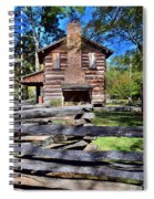 Log Cabin And Wooden Fence At Ninety Six National Historic Site 2 Spiral Notebook