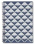 Log Cabin Blues Quilt Spiral Notebook