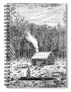 Log Cabin, C1800 Spiral Notebook