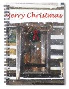 Log Cabin Christmas Spiral Notebook