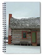 Log Cabin In The Snow Spiral Notebook