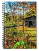 Log Structure For Meat Storage Spiral Notebook