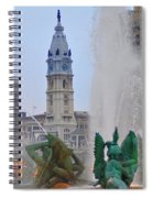 Logan Circle Fountain With City Hall In Backround 2 Spiral Notebook