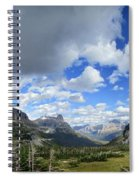 Logan Pass Panorama - Glacier National Park Spiral Notebook