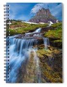 Logan Pass Stormclouds Spiral Notebook