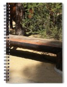 Logger Bench In Oregon Spiral Notebook