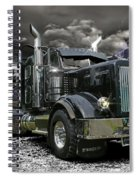 Logger On A Stormy Night Spiral Notebook