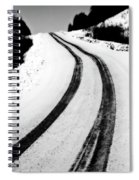 Logging Road In Winter Spiral Notebook