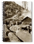 Logging With Oxen At A Saw Mill Sonoma County California Circa 1900 Spiral Notebook
