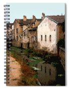 Loire Valley Village Scene Spiral Notebook