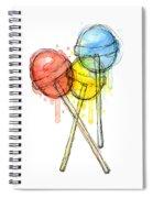 Lollipop Candy Watercolor Spiral Notebook