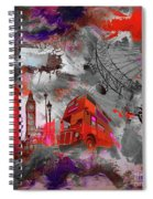 London Art 56 Spiral Notebook