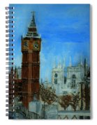 London Big Ben Clock  Spiral Notebook