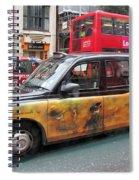 London Busy Street Spiral Notebook