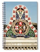London Chatham And Dover Railway Crest With Invicta Motto Blackfriars Railway Station Spiral Notebook