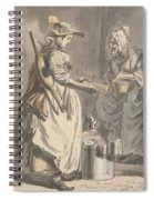 London Cries - A Milkmaid Spiral Notebook