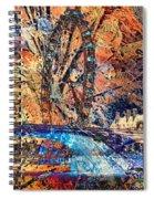 London Eye Abstract Spiral Notebook