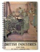 London Midland And Scottish Railway, British Industries - Retro Travel Poster - Vintage Poster Spiral Notebook
