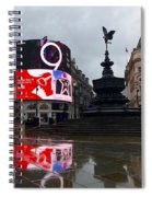 London Piccadilly On A Rainy Day Spiral Notebook