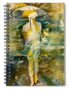 London Rain Theme Spiral Notebook
