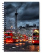 London Red Buses Spiral Notebook
