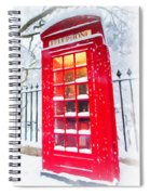 London Red Telephone Booth  Spiral Notebook