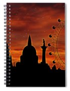 London Skyline At Dusk Spiral Notebook