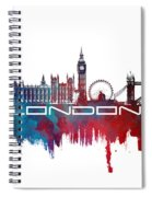 London Skyline City Blue Spiral Notebook