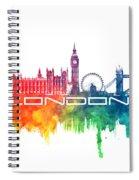 London Skyline City Color Spiral Notebook