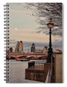 London Skyline From The South Bank Spiral Notebook