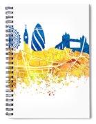 London Skyline Map City London Eye Spiral Notebook