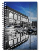 London. St. Katherine Dock. Reflections. Spiral Notebook
